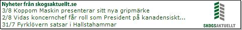 Nyheter fr�n Skogsaktuellt