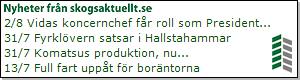 Nyheter från Skogsaktuellt